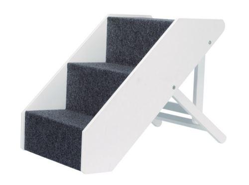 Drevené schody s plsteným vzhľadom, nastaviteľné 40x67cm biele