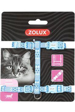 Postroj mačka ETHNIC nylon modrý Zolux