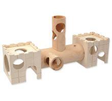 Domček SMALL ANIMAL drevený s tunelom 34 x 19 cm 1ks VÝPREDAJ
