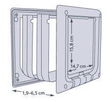 4 funkčná dvierka s nástavcami TRIXIE sivá