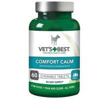VET'S BEST Upokojujúce žuvacie tablety pre psov, 60 tabliet