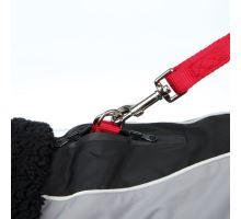 Zimné oblečok MARNE čierny, s otvorom na vodítko TRIXIE S 36 cm