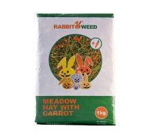 Seno lúčne s mrkvou RabbitWeed 1kg 40 l