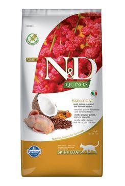N & D GF Quinoa CAT Skin & Coat Quail & Coconut 5kg