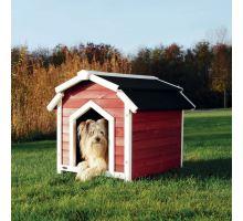 Country bouda pro psa S-M 71x69x75 cm červeno/bílá
