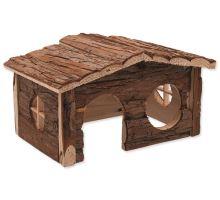 Domček SMALL ANIMAL drevený jednoposchodový 28,5 x 19,5 x 16,5 cm 1ks