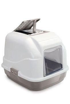 WC mačka s filtrom a lopatkou sivá 62x49,5x47,5cm