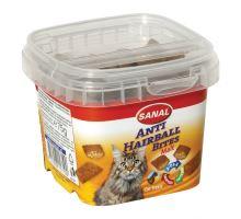 SANAL ANTI-HAIRBALL BITES - plněný snack proti chomáčům 75 g
