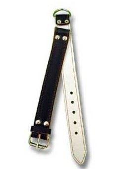 Obojok kožený sťahovák podšitý plsťou 60cmx3cm
