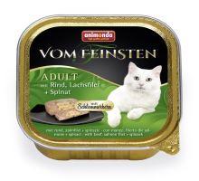 V.Feinsten CORE hovězí, losos filet + špenát pro kočky 100g
