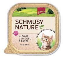 Schmusy Cat Nature Menu vanička Junior teľacie + hydina 100g