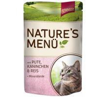 Schmusy Cat Nature Menu vrecko morka + králik 100g