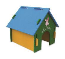 Domček SMALL ANIMAL drevený farebný 30 x 29,5 x 29,5 cm 1ks