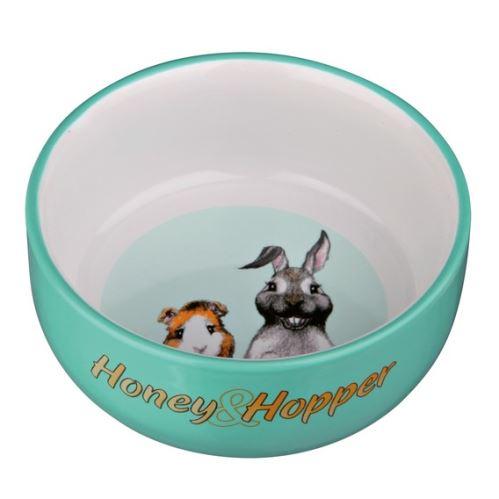 Keramická miska Honey-Hopper pre morča, králika 250ml / 11cm VÝPREDAJ