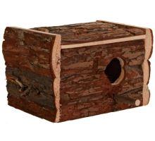 Hniezdiace búdka z prírodného dreva pre andulky 21x13x12 cm