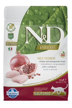N & D PRIME CAT Neutered Chicken & Pomegranate 300g