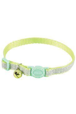 Obojok mačka SHINY nylon zelený 10mm / 30cm Zolux