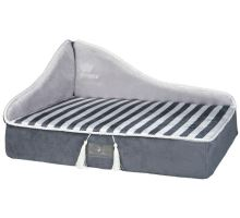 MY PRINCE plyšová sofa-pohovka sivá 60x32x45 cm