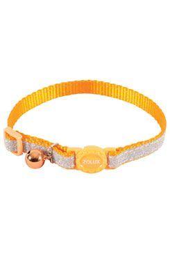 Obojok mačka SHINY nylon oranžový 10mm / 30cm Zolux