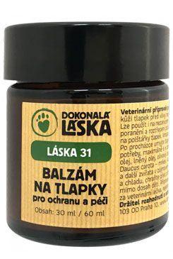 LÁSKA 31 Balzam na labky pre ochranu a starostlivosť 30 ml