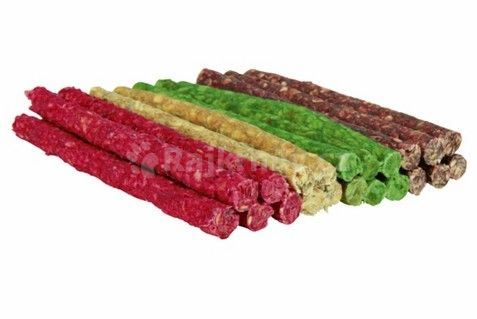 Tyčinka chroupací 9-10mm/12cm mix farieb TRIXIE 100ks červená