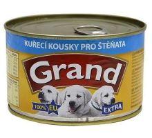 GRAND konz. šteňa Extra kuř.kousky 405g