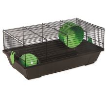 Klietka SMALL ANIMAL Viktor čierna so zelenou výbavou 1ks
