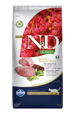 N & D GF Quinoa CAT Weight Mngmnt Lamb & Broccoli 5kg