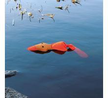 Plávajúce oranžová Kačena sa zvukom 50 cm