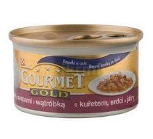 Gourmet Gold konzerva mačka s kuraťom, srdcom, pečeňou 85g