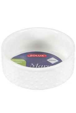 Miska keramická MARGOT hlodavec 200ml biela Zolux