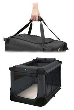Prepravka MAELSON pre psov nylon čierna XL / 92x64x64cm