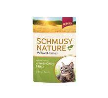 Schmusy Cat Nature Flakes kapsa králik + ryža + štiav 100g