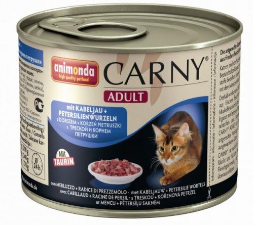 ANIMONDA konzerva CARNY Adult - treska, petržlen 200g