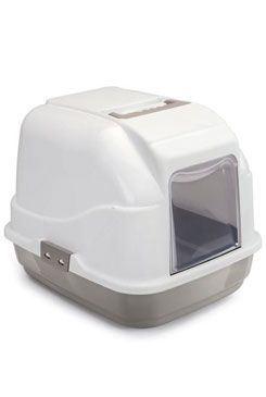 WC mačka s filtrom a lopatkou béžová 50x40x40cm
