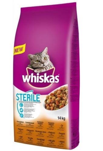 Whiskas Dry kuracie STERILE 14kg