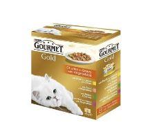 Gourmet Gold Mltp konz.mačka kúsky vo šť.zelen.8x85g