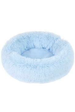 Pelech ADELE plyš s dlhým vlasom 70cm Modrá 1ks