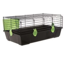 Klietka SMALL ANIMAL Michal čierna so zelenou výbavou 1ks
