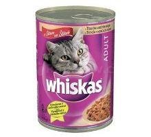 Whiskas konzerva teľacie + morka 400g  VÝPREDAJ