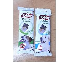 Pochúťka dentálnej TOBBY DENTAL CROSS SM 70g 3ks