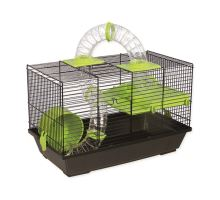 Klietka SMALL ANIMAL Patrik čierna so zelenou výbavou 1ks
