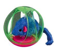 BOBO míček plastový s barevnou myškou 6 cm