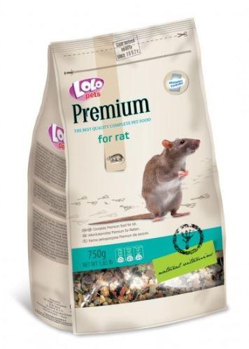 Lolo PREMIUM krmivo pre potkany 750 g sáčok