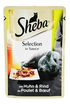 Sheba vrecko Selection s kuracím a hovädzím v šťave 85g