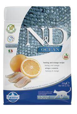N & D OCEAN CAT GF Adult Herring & Orange 1,5kg