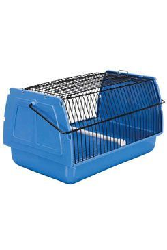 Prepravka pre vtáky 30x18x20cm plast modrá 1ks TR