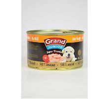 GRAND konzerva Superpremium Junior pes morčacie 405g