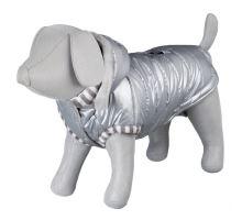 Lesklá bundička DOG PRINCE strieborní