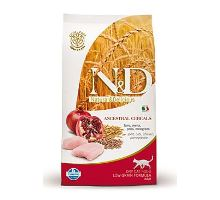 N & D Low Grain CAT Adult Chicken & Pomegranate 300g